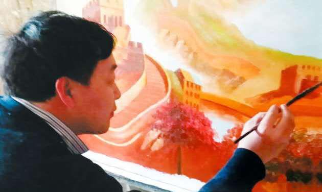 中华国礼第一幅创作者乔领空降陈百加教育课程现场